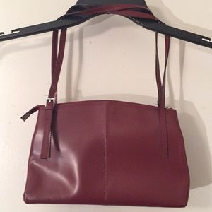 Handbags - Maroon genuine leather purse made in Brazil